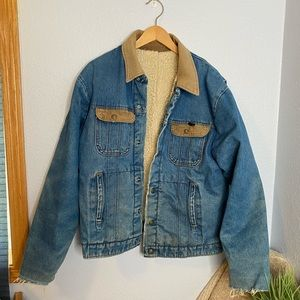 Vintage Key destroyed trucker jacket coat